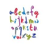 Script font vector, vector alphabet letters Royalty Free Stock Photos