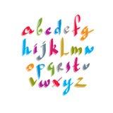 Script handwritten font vector. Stock Image