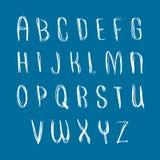 Script handwritten font vector, vector alphabet letters Stock Photo