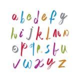 Script handwritten font vector, vector alphabet letters. Royalty Free Stock Photos