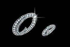Script le lettere di Bling Oo del diamante Fotografia Stock Libera da Diritti