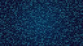 Script programming code background. Script fictitious programming code background. Java language abstract pattern. Computer program vector illustration Stock Image
