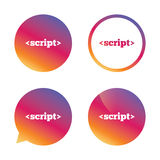 Script sign icon. Javascript code symbol. Stock Images