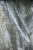 Script in stone at Roman Forum, Italy. Stock Photography