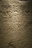 Script in stone in, Rome, Italy. Royalty Free Stock Photography