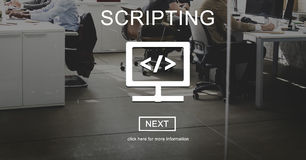 Scripting Coding Data Development Internet Concept Royalty Free Stock Images