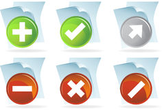 Scripting Document Icons Royalty Free Stock Images