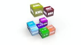 Scripting el web Deisgn para las páginas del WWW y el márketing de Internet almacen de video