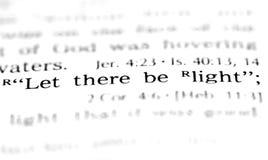 Scripture van het ontstaan stock foto's