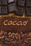 Scritta de la estafa del cacao Imagen de archivo