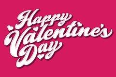 Scritto audace del biglietto di S. Valentino di giorno felice del ` s illustrazione di stock
