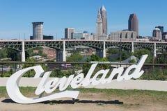 Scritto Cleveland Fotografia Stock Libera da Diritti