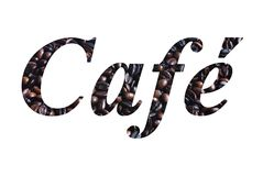 Scritto del caffè Fotografie Stock