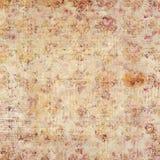 Scritto grungy rustico marrone antico e fondo floreale Fotografie Stock Libere da Diritti