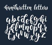 Scritto latino scritto a mano bianco della spazzola di calligrafia del le minuscolo royalty illustrazione gratis