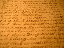 Scritto a mano fotografie stock libere da diritti