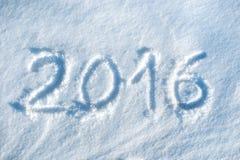 2016 scritto in neve #2 Immagini Stock