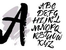 Scritto scritto a mano calligrafico della spazzola espressiva Immagini Stock Libere da Diritti