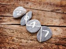 2017 scritto su un lign delle pietre su un legno Fotografia Stock