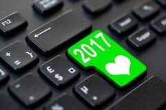 2017 scritto su una tastiera di computer Fotografie Stock Libere da Diritti