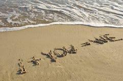 Scritto sulla sabbia. Fotografia Stock Libera da Diritti