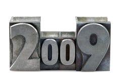 Scritto tipografico 2009 Fotografie Stock