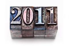 Scritto tipografico 2011 Immagini Stock