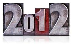 Scritto tipografico 2012 Immagini Stock