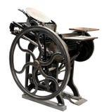 Scritto tipografico antico a partire da 1888 Immagine Stock