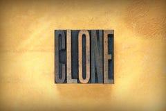Scritto tipografico del clone fotografie stock