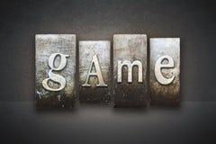 Scritto tipografico del gioco Immagini Stock Libere da Diritti