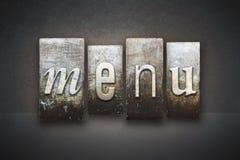Scritto tipografico del menu Fotografie Stock
