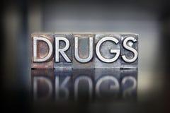 Scritto tipografico delle droghe Immagine Stock