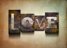 Scritto tipografico di amore. Fotografie Stock