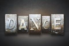 Scritto tipografico di ballo fotografia stock libera da diritti