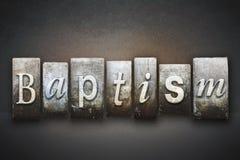 Scritto tipografico di battesimo Fotografia Stock Libera da Diritti