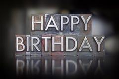 Scritto tipografico di buon compleanno fotografia stock
