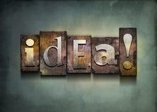 Scritto tipografico di idea. Fotografia Stock Libera da Diritti