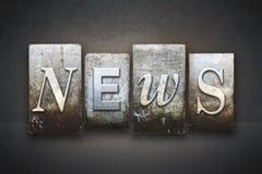 Scritto tipografico di notizie Immagini Stock