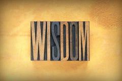 Scritto tipografico di saggezza Fotografie Stock