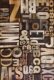Scritto tipografico piano Fotografia Stock Libera da Diritti