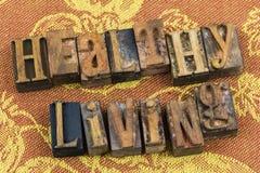 Scritto tipografico vivente sano di concetto Immagini Stock Libere da Diritti