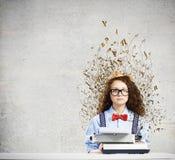 Scrittore della donna Fotografie Stock