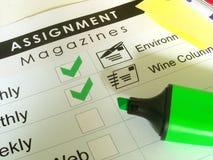 Scrittore indipendente - assegnazione #1 Immagine Stock Libera da Diritti