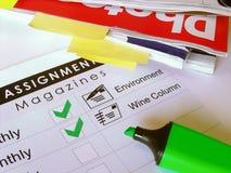 Scrittore indipendente - assegnazione #3 Immagini Stock