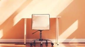 Scrittorio della stazione di lavoro in una grande stanza Fotografia Stock
