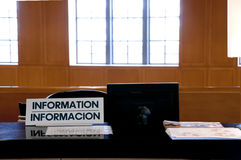 Scrittorio di informazioni Fotografie Stock Libere da Diritti