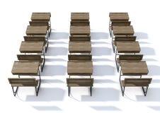 Scrittorio di legno d'annata della scuola Immagine Stock