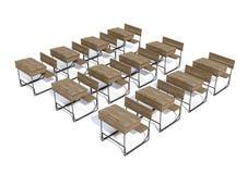 Scrittorio di legno d'annata della scuola Immagini Stock Libere da Diritti