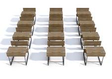 Scrittorio di legno d'annata della scuola Immagine Stock Libera da Diritti
